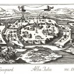Alba Iulia - engraved by Bouttats Gaspar from the 17th century
