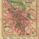Plan of the city of Cernauti in the interwar period