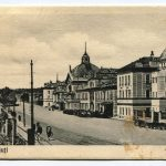 Cernauti railway station in the interwar period, black and white postcard from MNIR