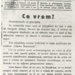 "The ""Glasul Bucovinei"" newspaper from October 22, 1918, the ""What we want"" the program article of the Romanians from Bucovina"