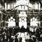 Voting of Bucovina union with Romania in Synodal Hall. 1918