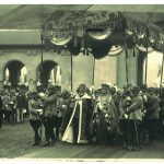 The ceremony of the crowning of King Ferdinand and the Queen Maria as sovereigns of Great Romania (photo Julietta), 1922