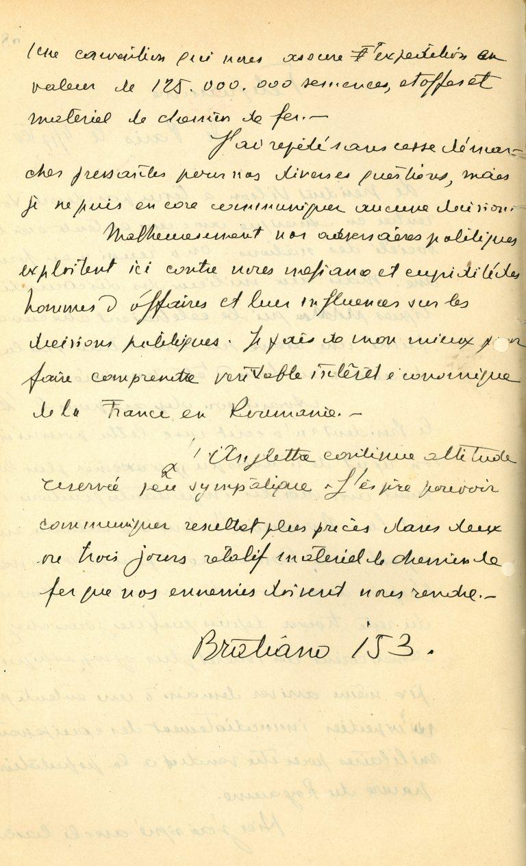 Corespondeță a lui Ion I.C. Brătianu despre desfășurarea Conferinței, 4/17 februarie
