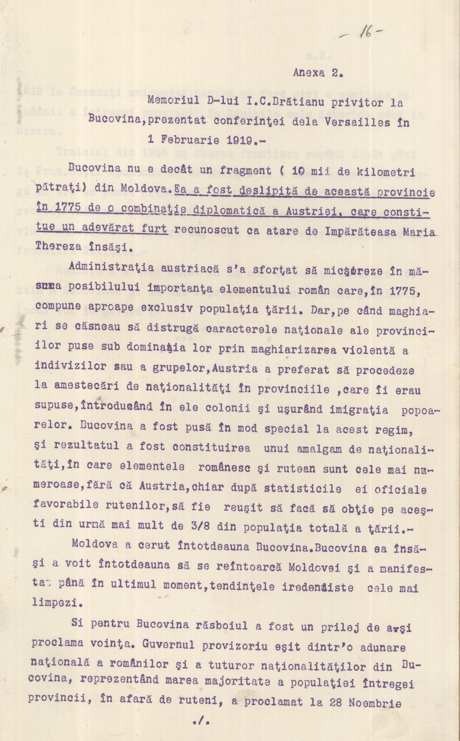Memoriu Brătianua